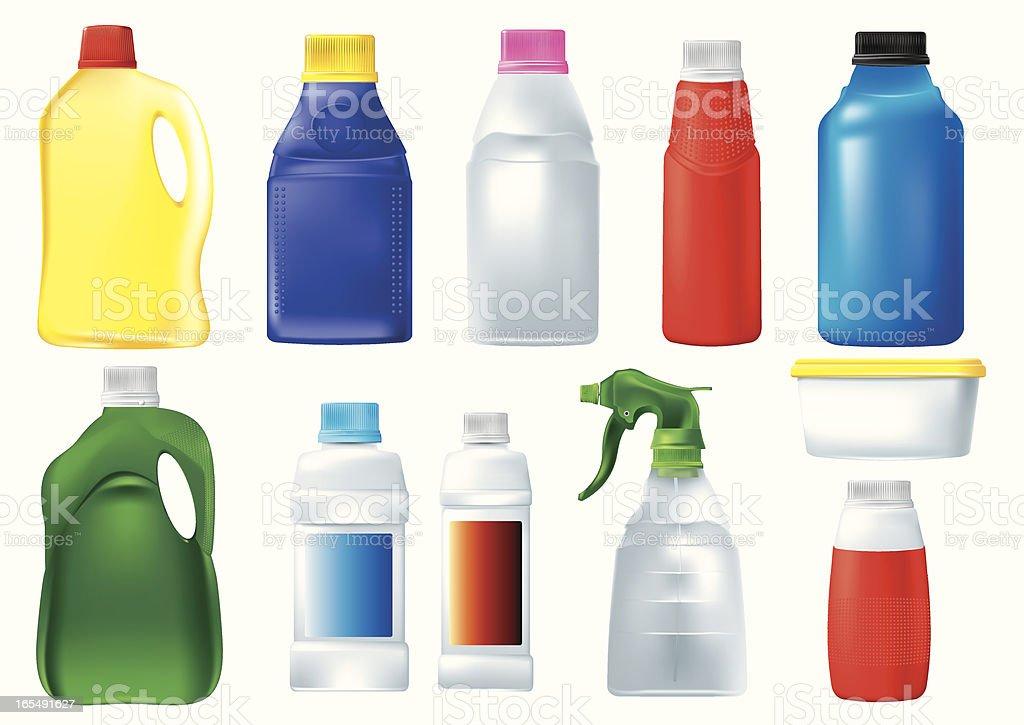 Plastic Detergent Bottle vector art illustration