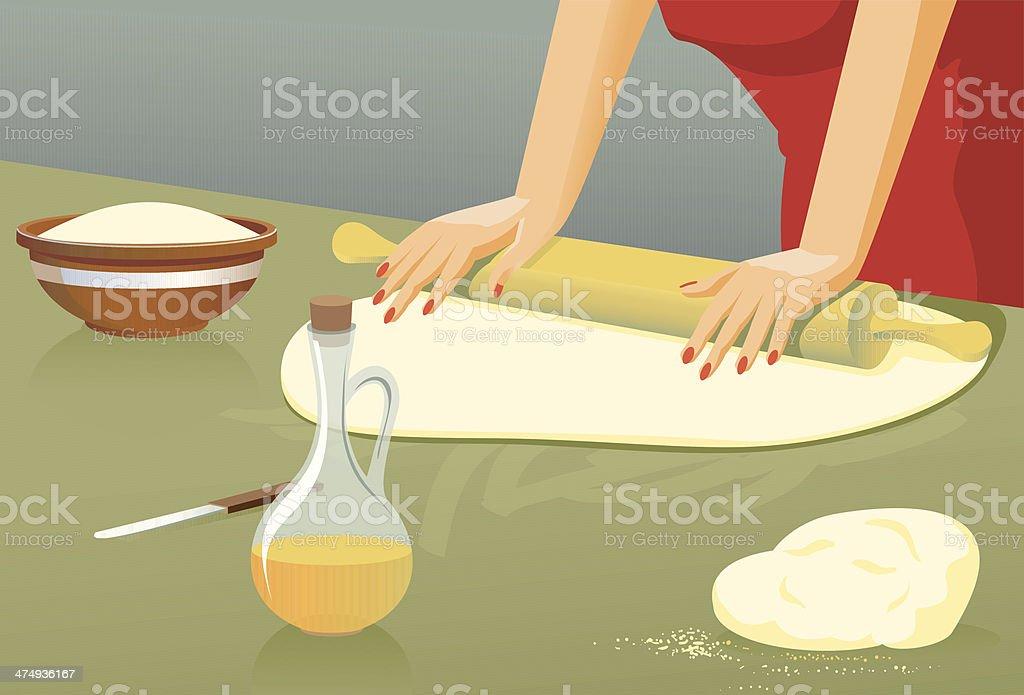 Plastic dough vector art illustration