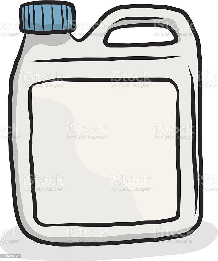 plastic gallon vector art illustration