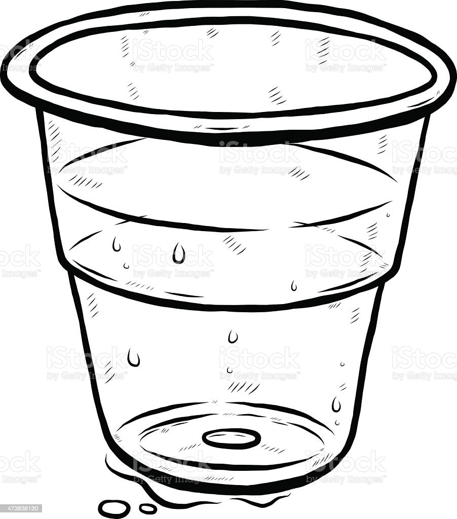 Plastic Glass And Water Stock Vector Art 473838130