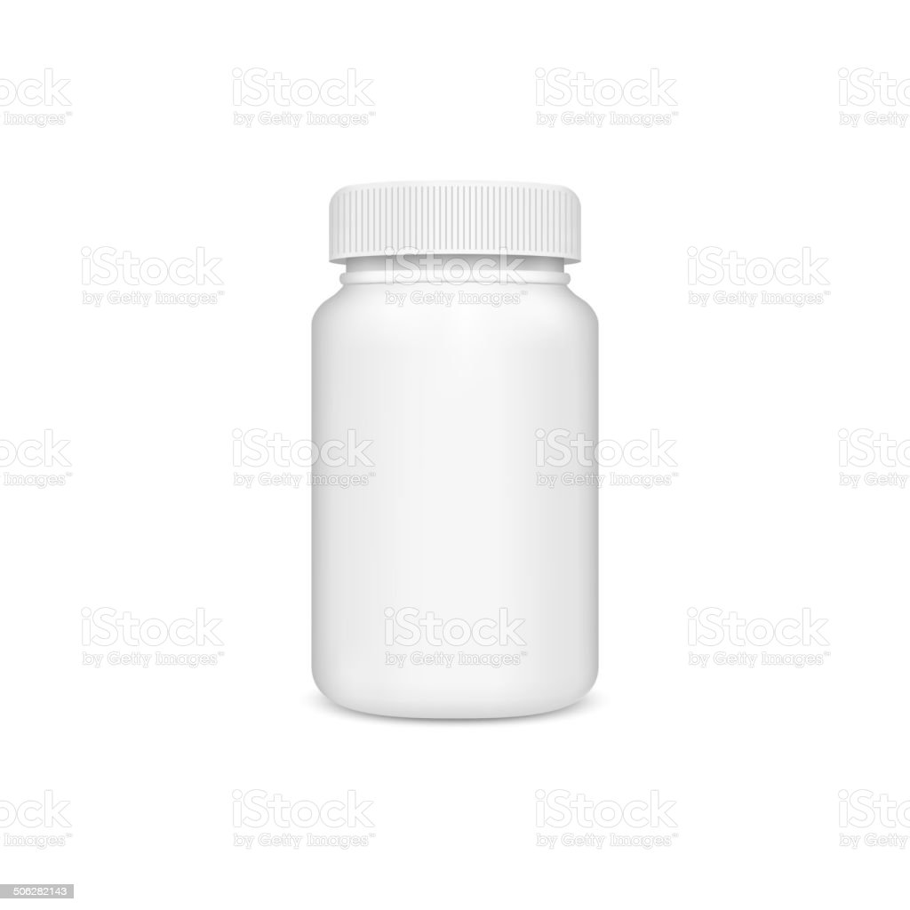 Plastic jar with the lid vector art illustration
