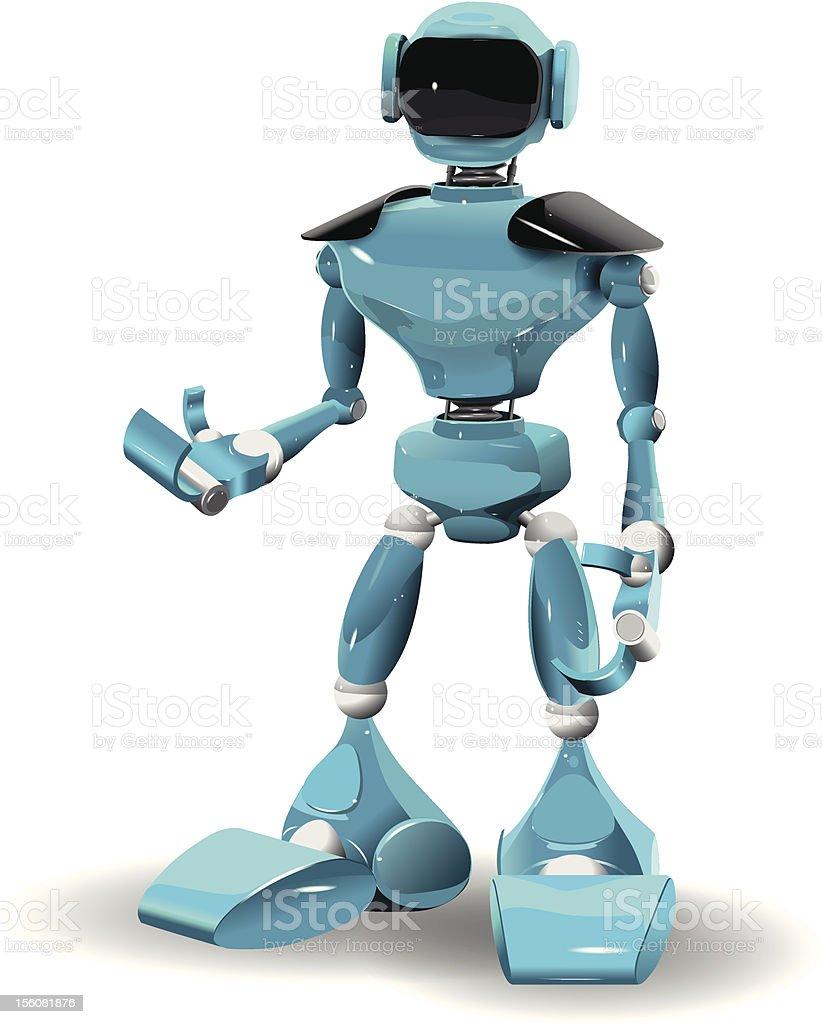 plastic robot royalty-free stock vector art