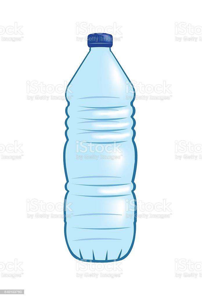 Plastic water bottle vector art illustration