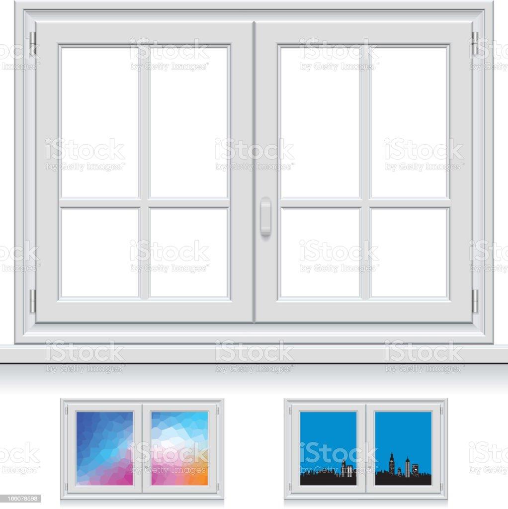 Plastic Window vector art illustration