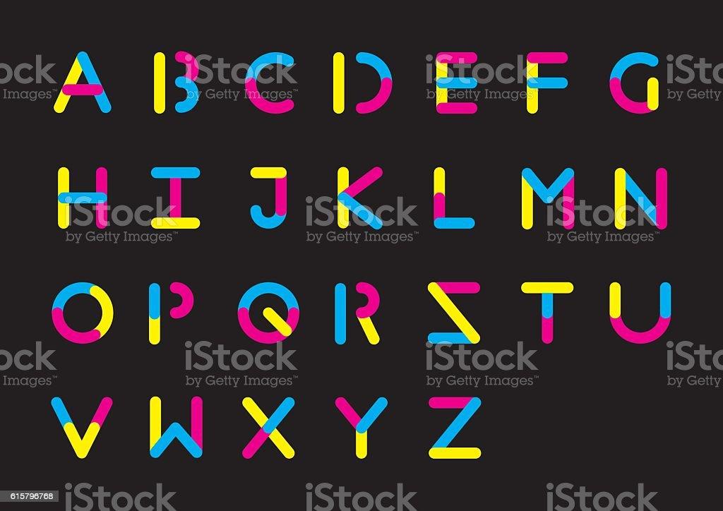 Plasticine alphabet vector art illustration