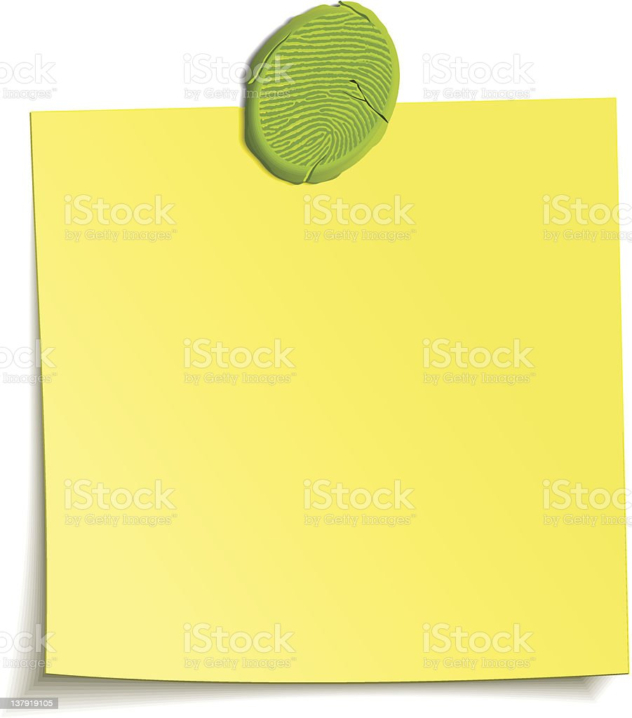 Plasticine attached note royalty-free stock vector art