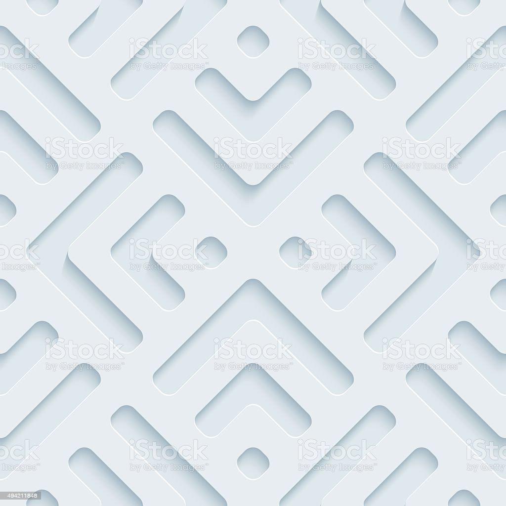 Plate 3D Seamless Wallpaper Pattern. vector art illustration