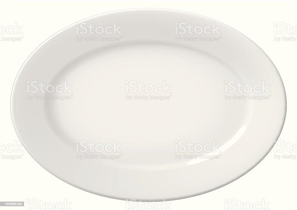 plate ellipse royalty-free stock vector art