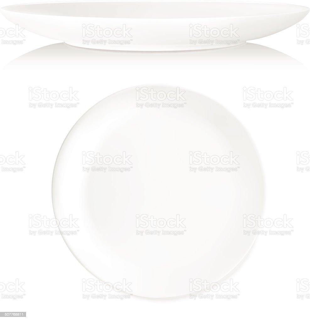 Plate - Vector vector art illustration