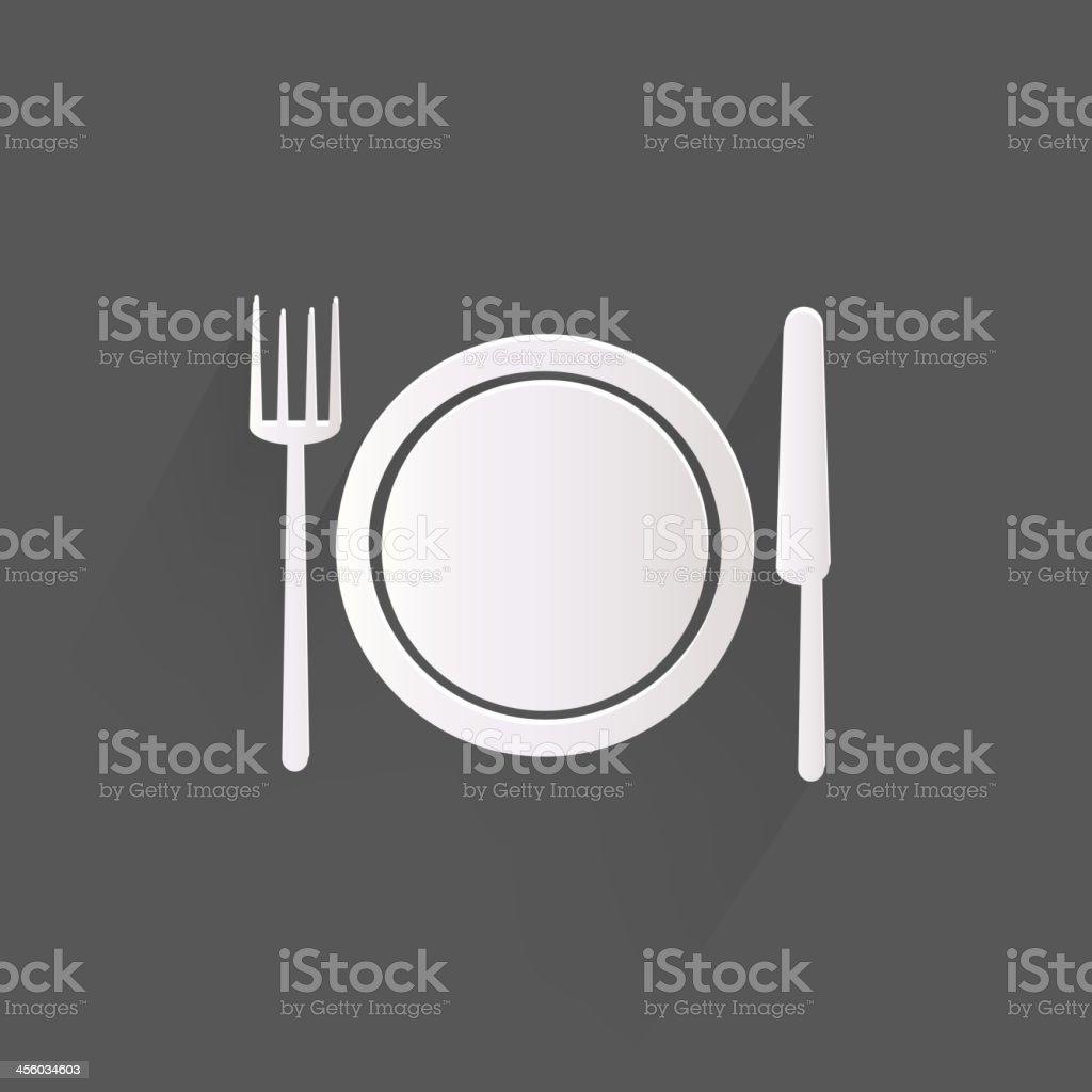 Plate web icon vector art illustration