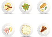 Plated Food Icons