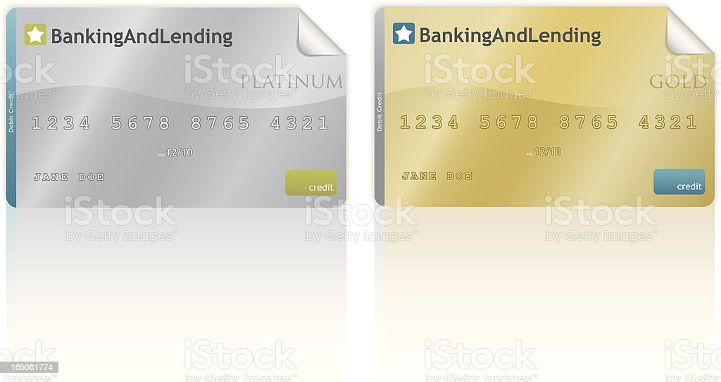 platinum and gold cards royalty-free stock vector art