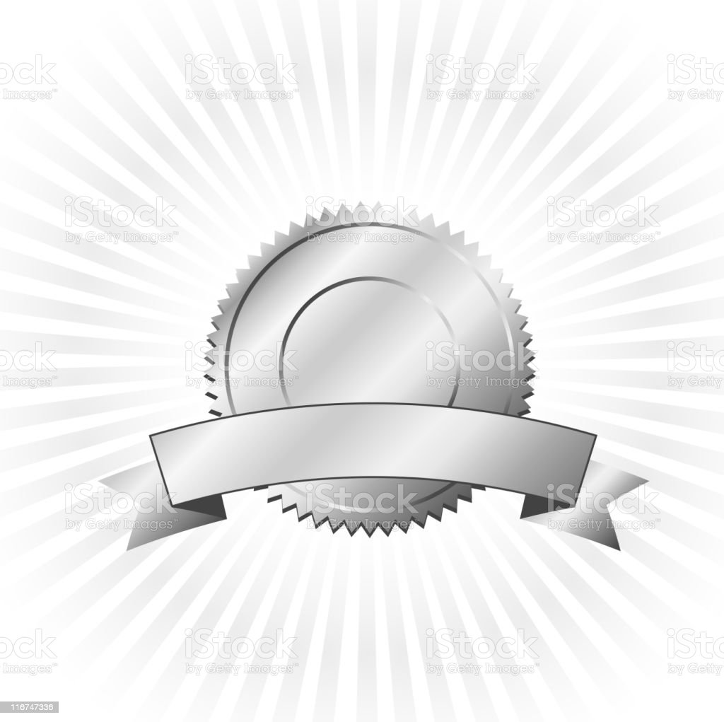 platinum badge on royalty free vector Background with glow effect vector art illustration