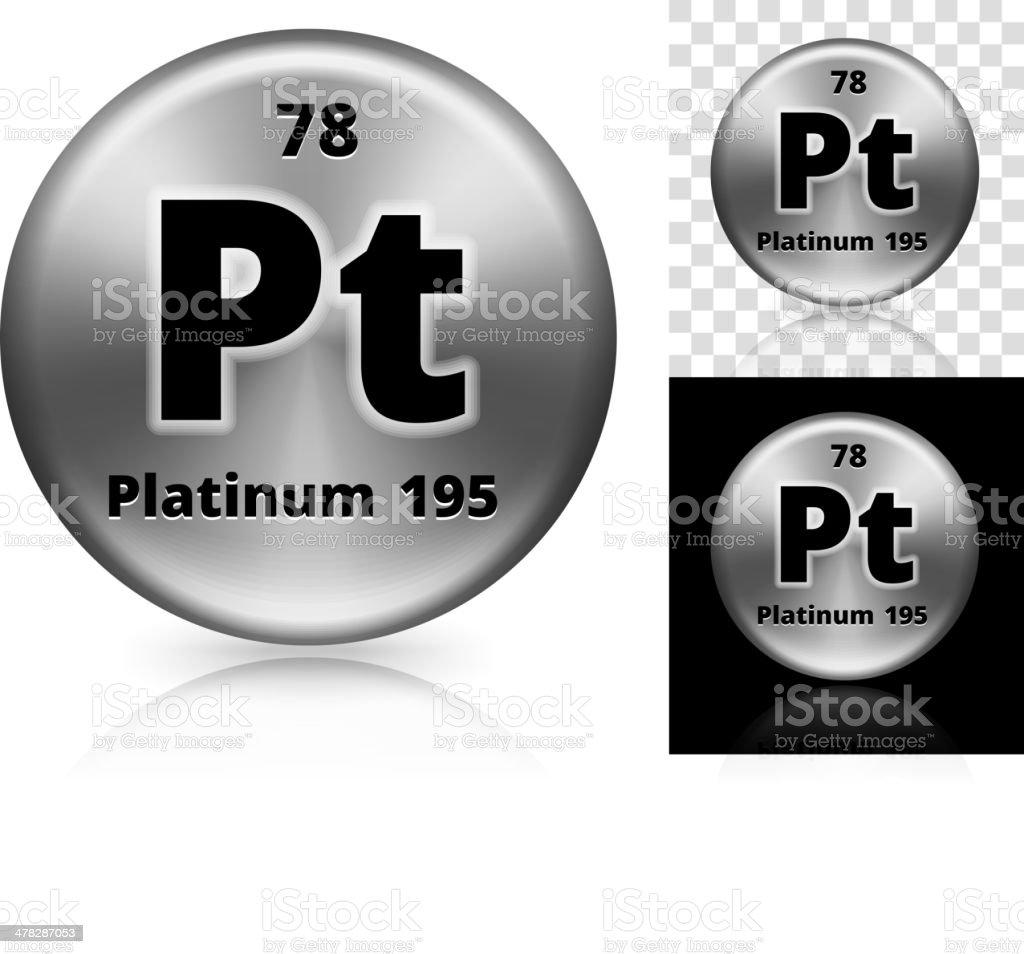 Platinum Circle Element Background Set vector art illustration