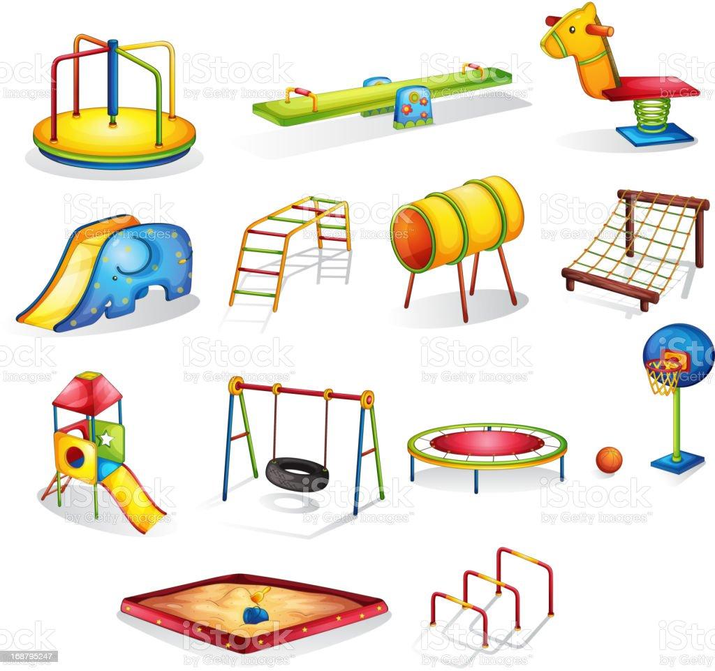 Play equipment vector art illustration
