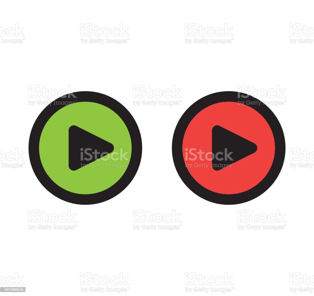 Play Icon Design vector art illustration