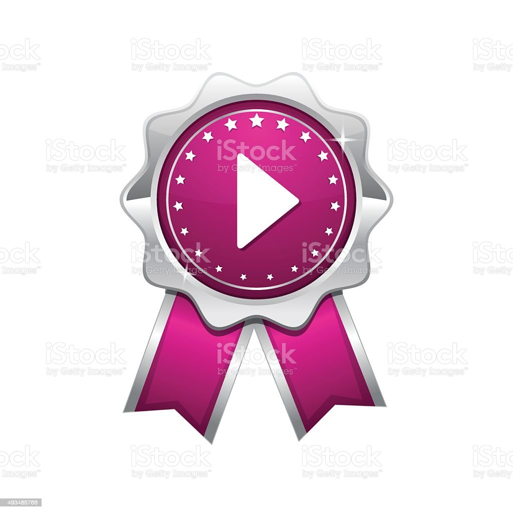 Play Pink Vector Icon Design vector art illustration