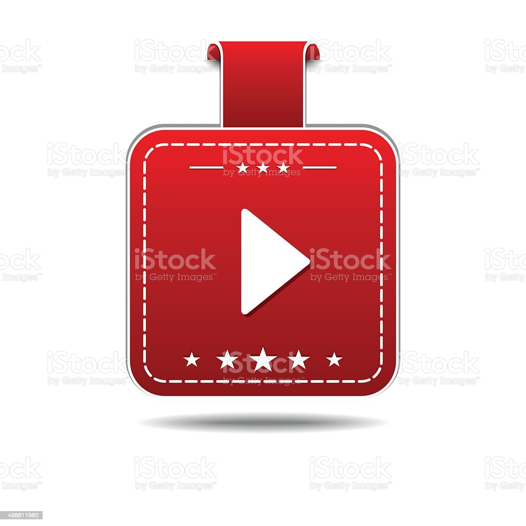 Play Red Vector Icon Design vector art illustration