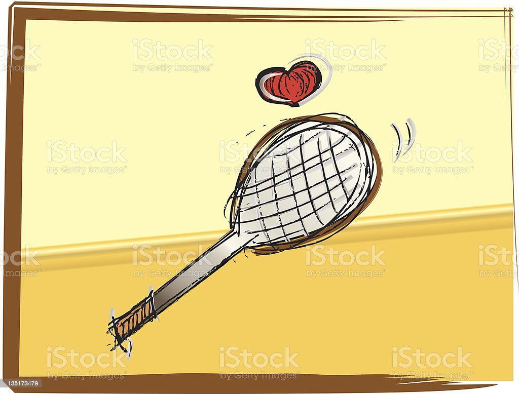 Play Tennis royalty-free stock vector art