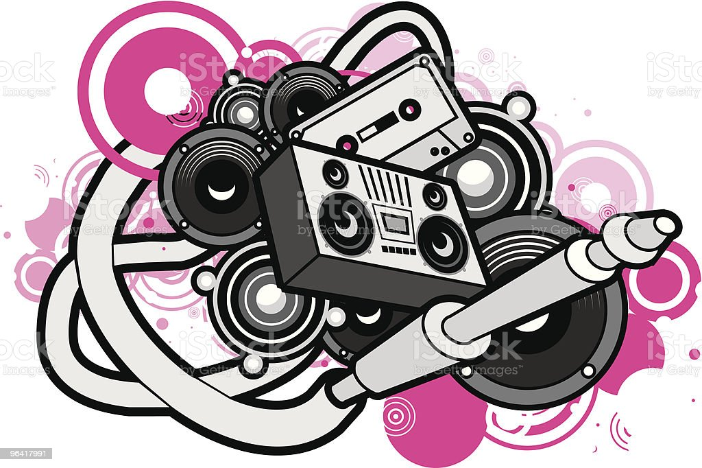 Play that funky shhhh royalty-free stock vector art