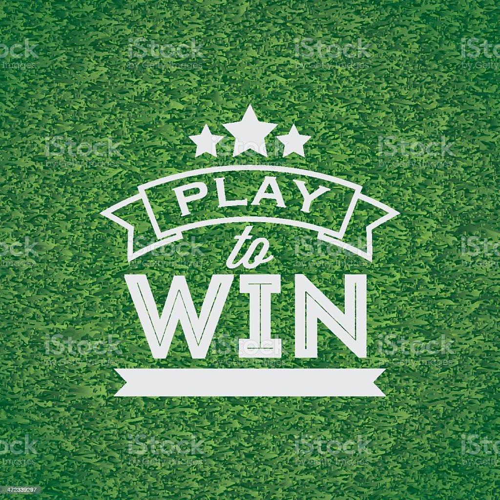Play to win banner vector art illustration