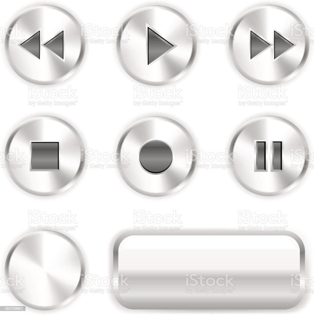 Player buttons royalty-free stock vector art