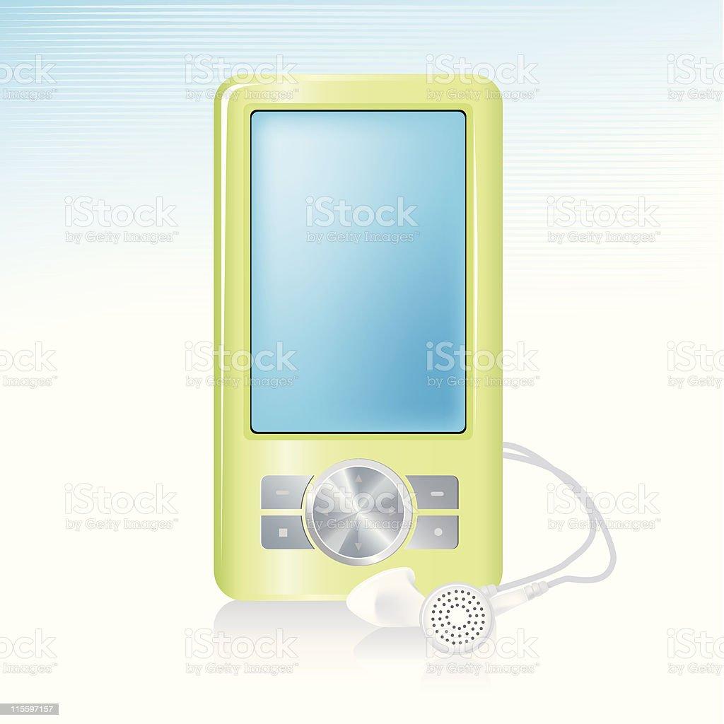 MP3 Player Icon vector art illustration