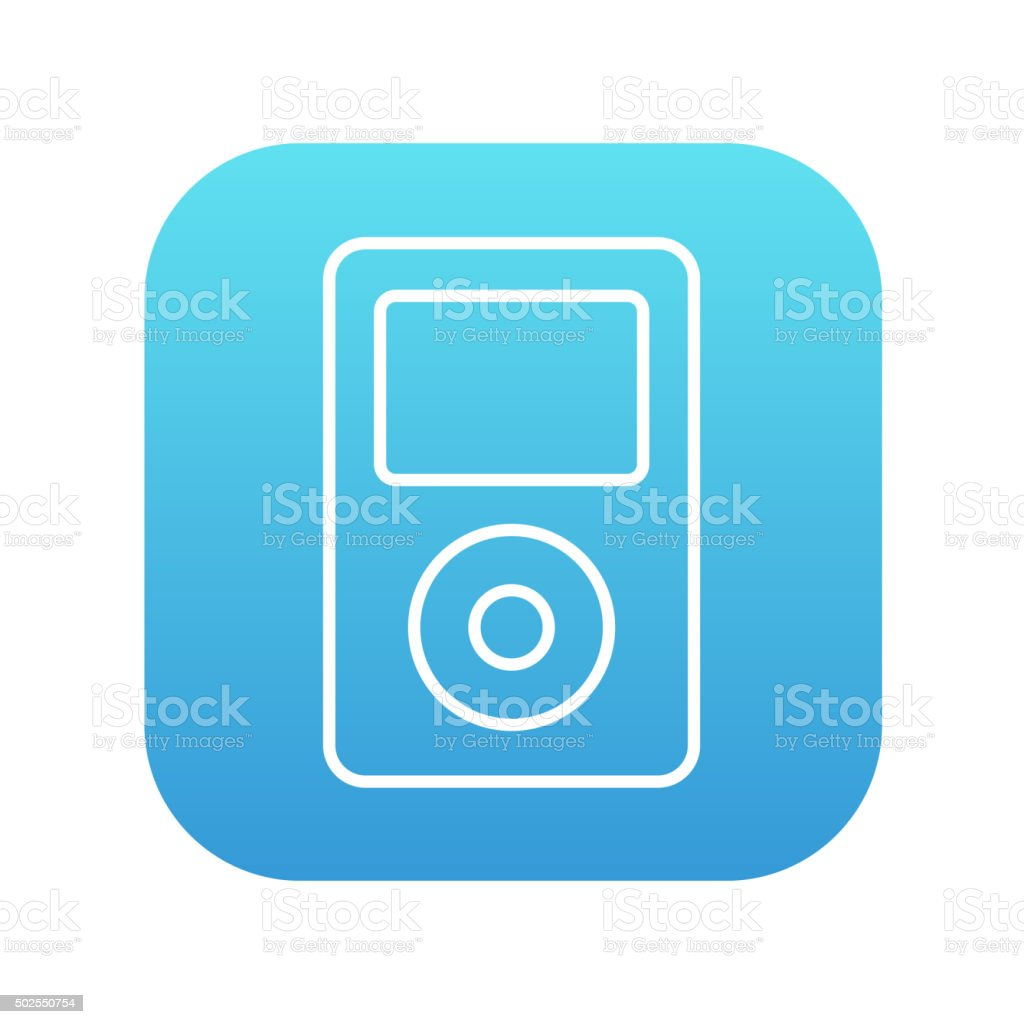 MP3 player line icon vector art illustration
