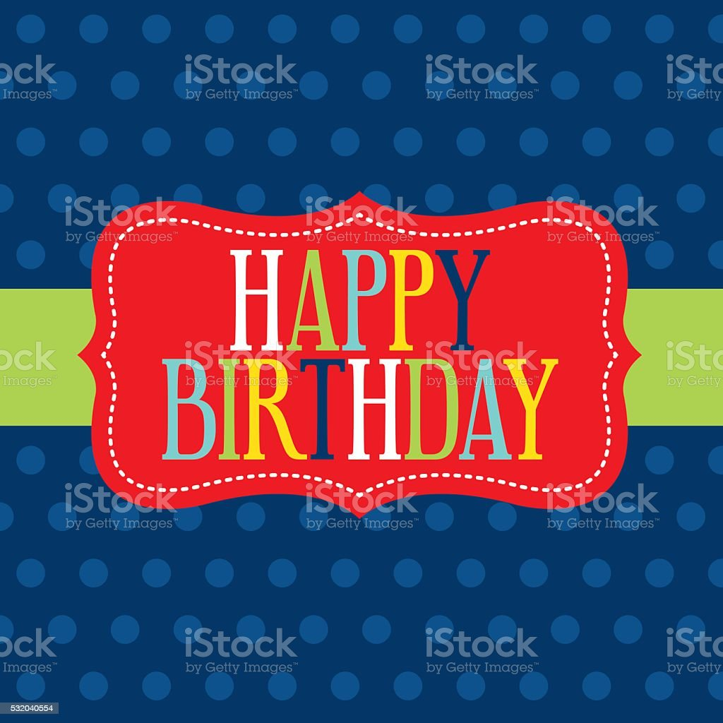 playful birthday card vector art illustration