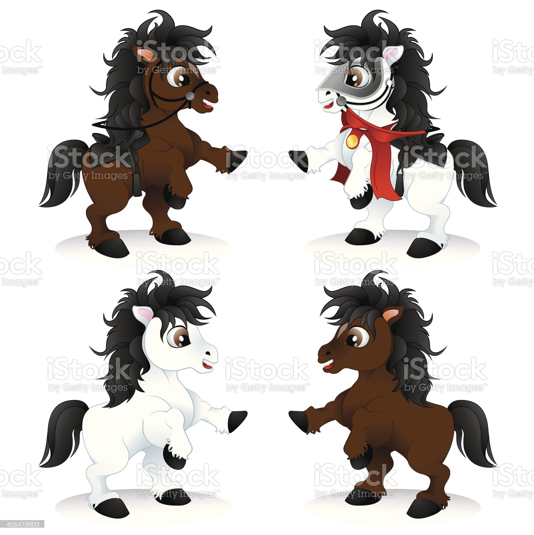 Playful Horses royalty-free stock vector art