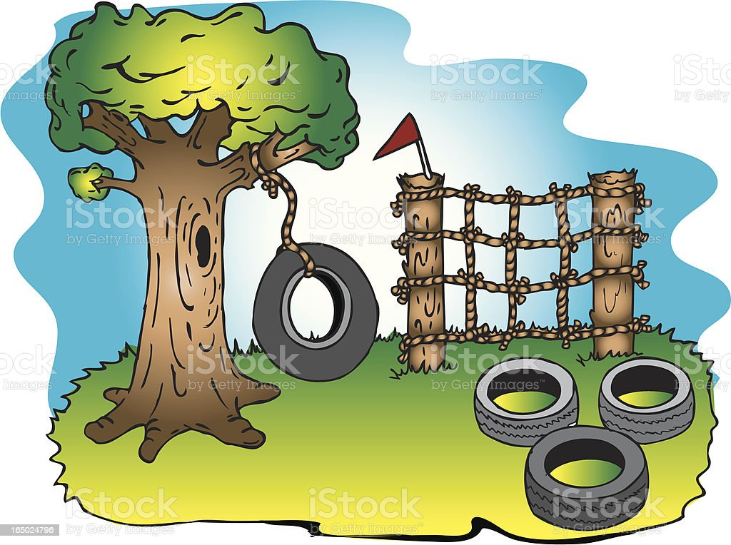 Playground Bootcamp royalty-free stock vector art