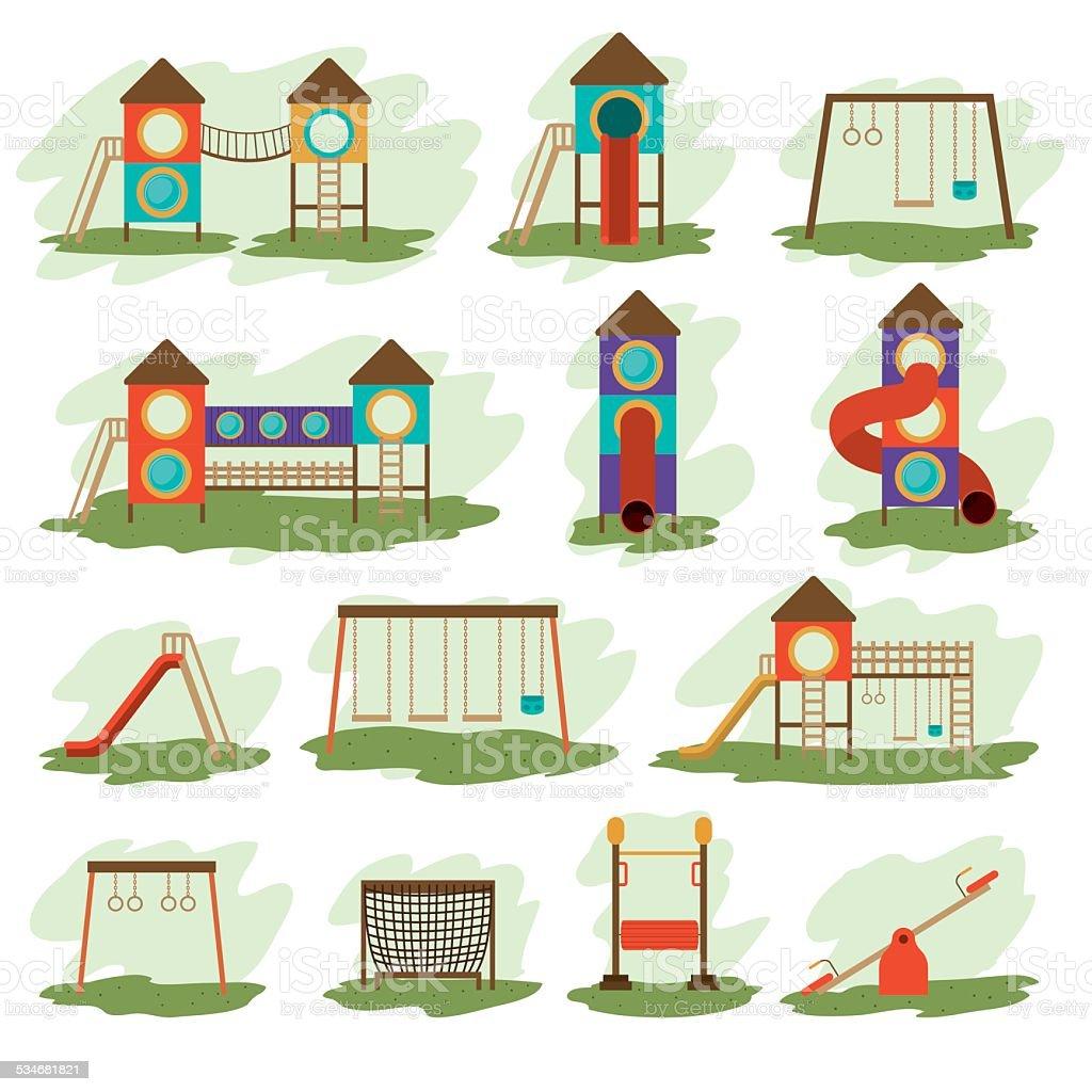 Playground design, vector illustration. vector art illustration