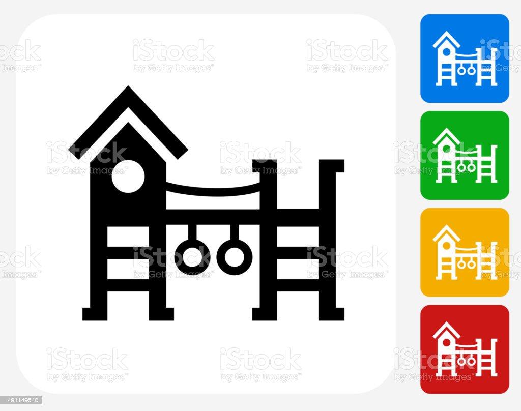 Playground Icon Flat Graphic Design vector art illustration