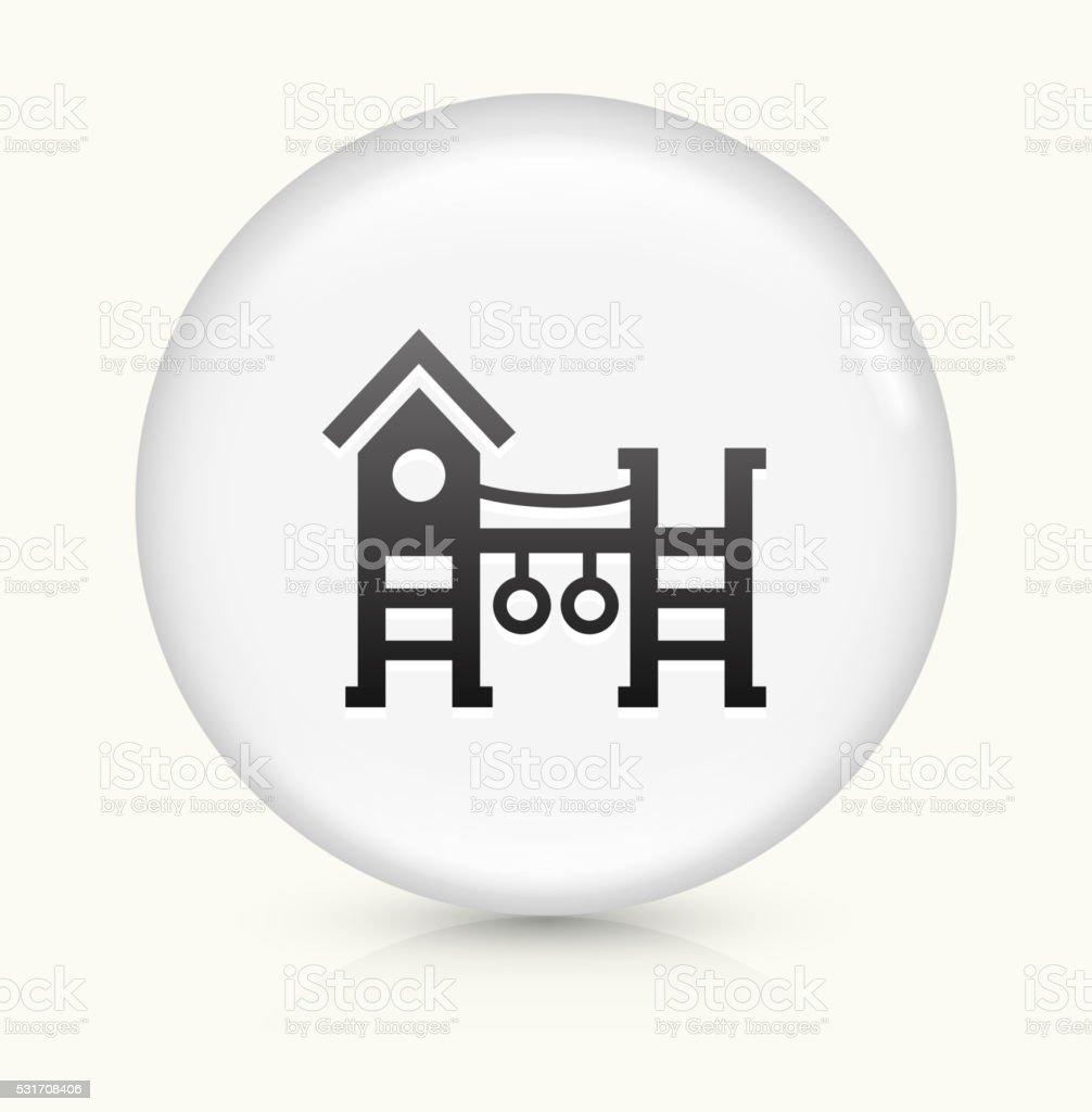 Playground icon on white round vector button vector art illustration