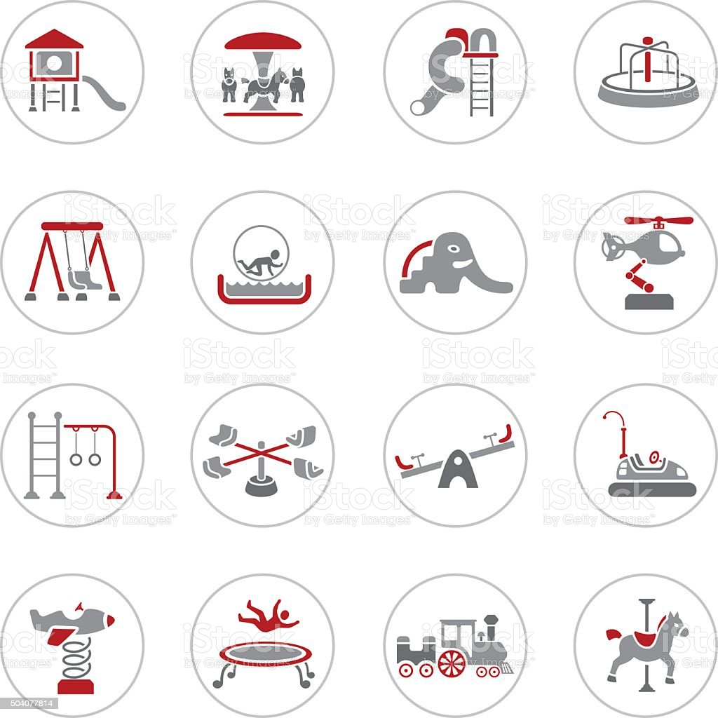 Playground Icons vector art illustration