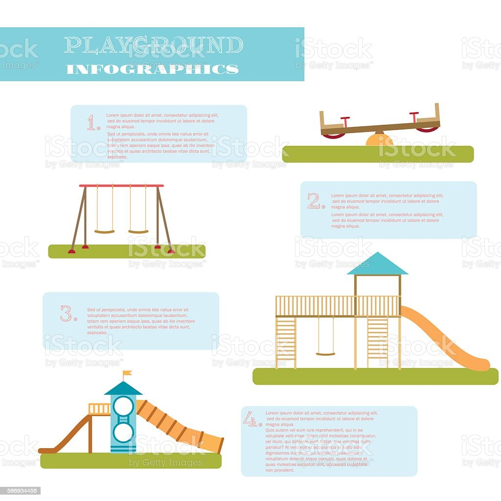 Playground infographic elements vector. vector art illustration