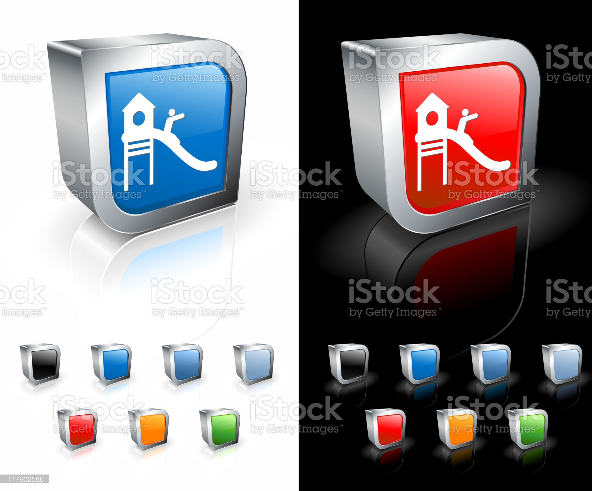 playground slide 3D royalty free vector art royalty-free stock vector art