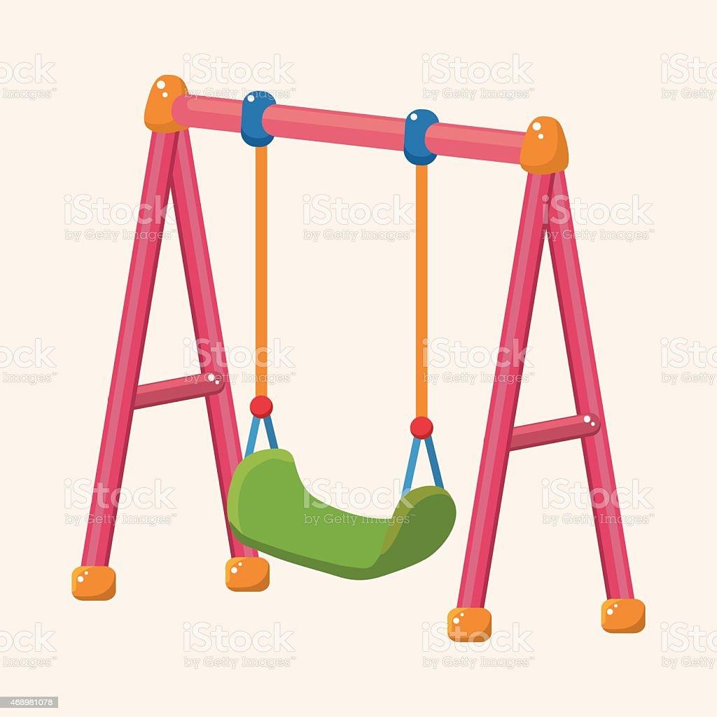 playground swing theme elements vector art illustration
