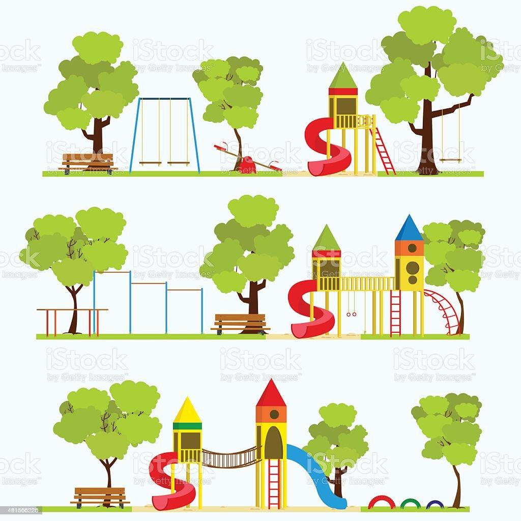 Playground vector art illustration