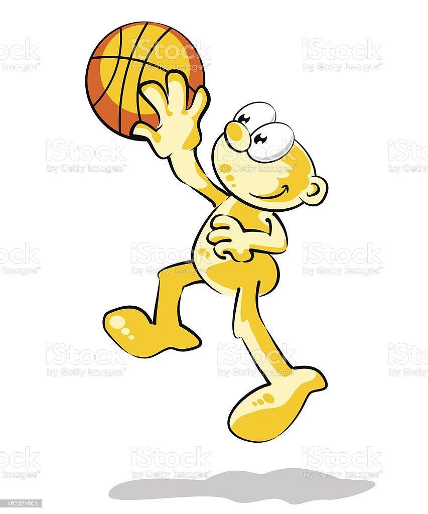 Playing Basketball vector art illustration