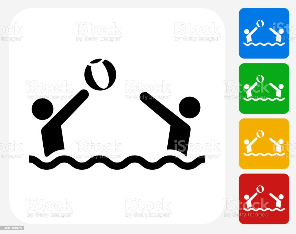 Playing Beach ball Icon Flat Graphic Design vector art illustration