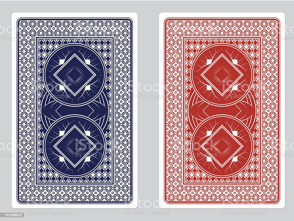 Playing Card Back Designs vector art illustration