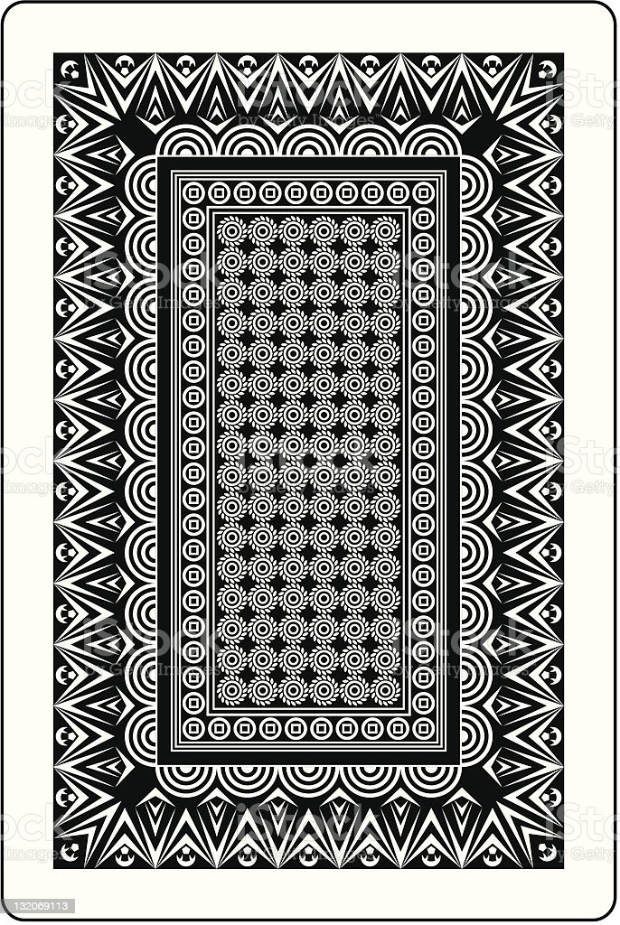playing card back side 60x90 mm vector art illustration