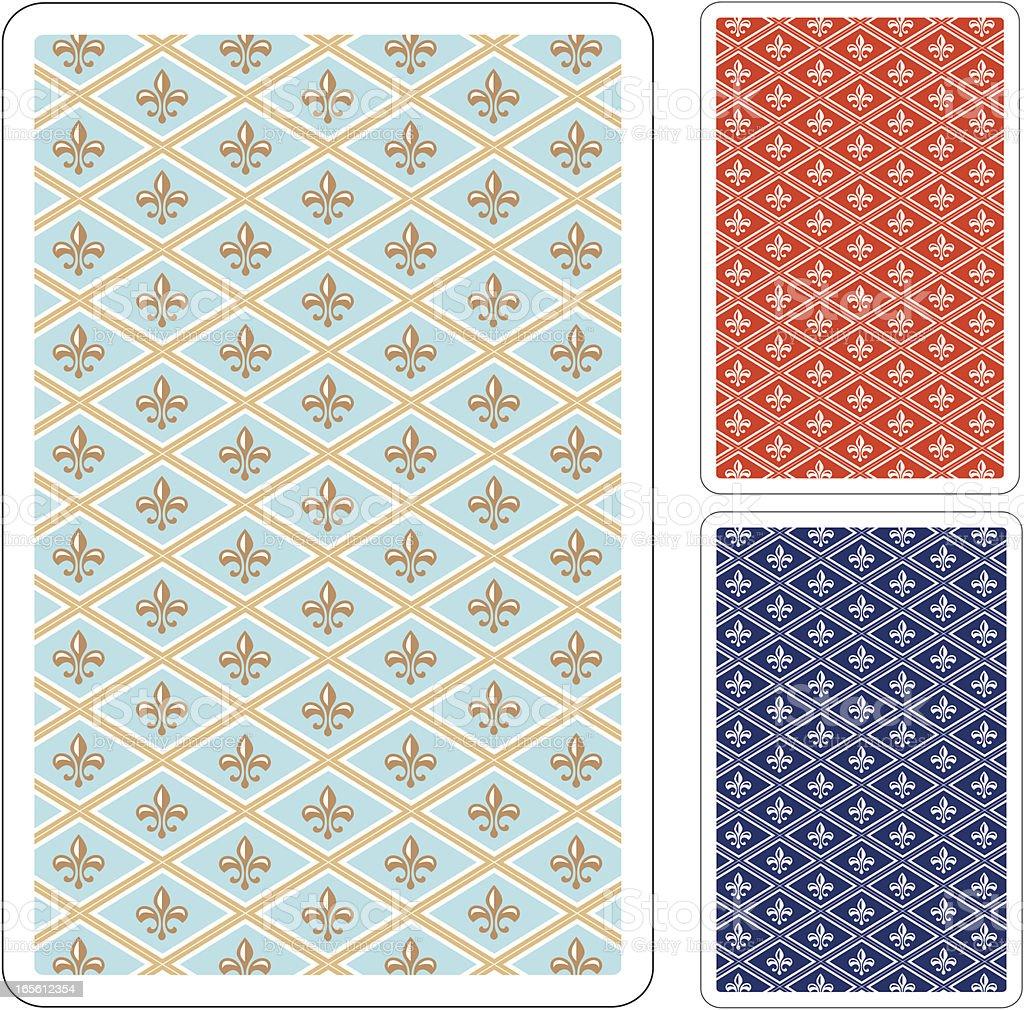 Playing card backs royalty-free stock vector art