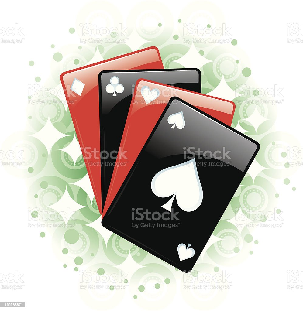 Playing Card - Suits royalty-free stock vector art