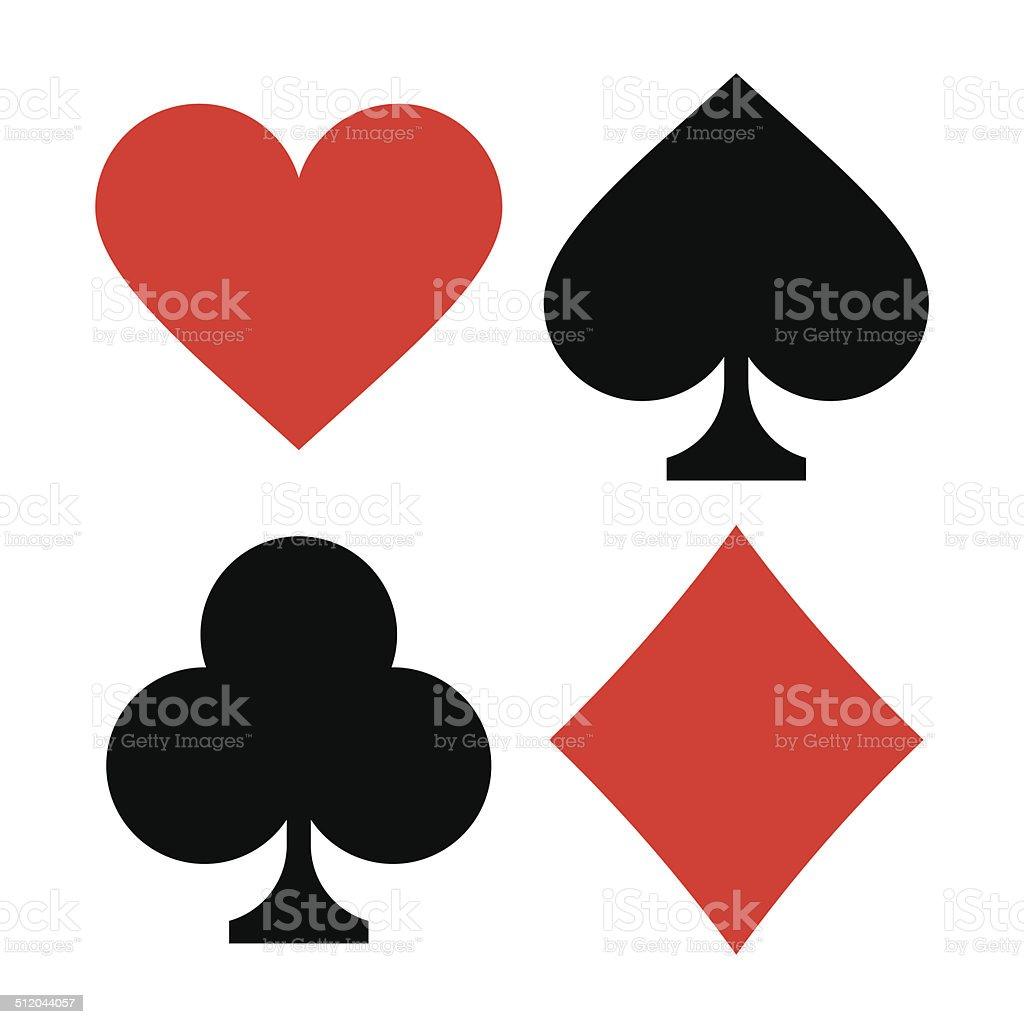 Playing card symbols vector art illustration