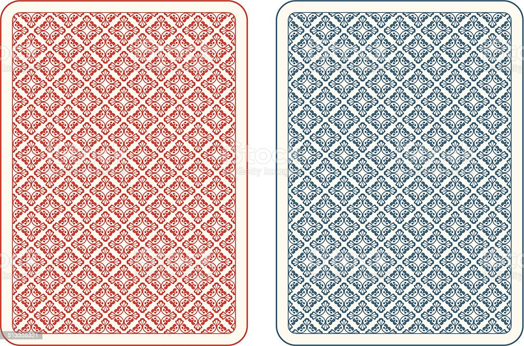 Playing cards back alfa vector art illustration