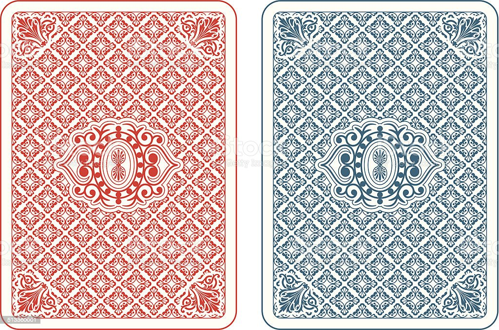 Playing cards back beta vector art illustration