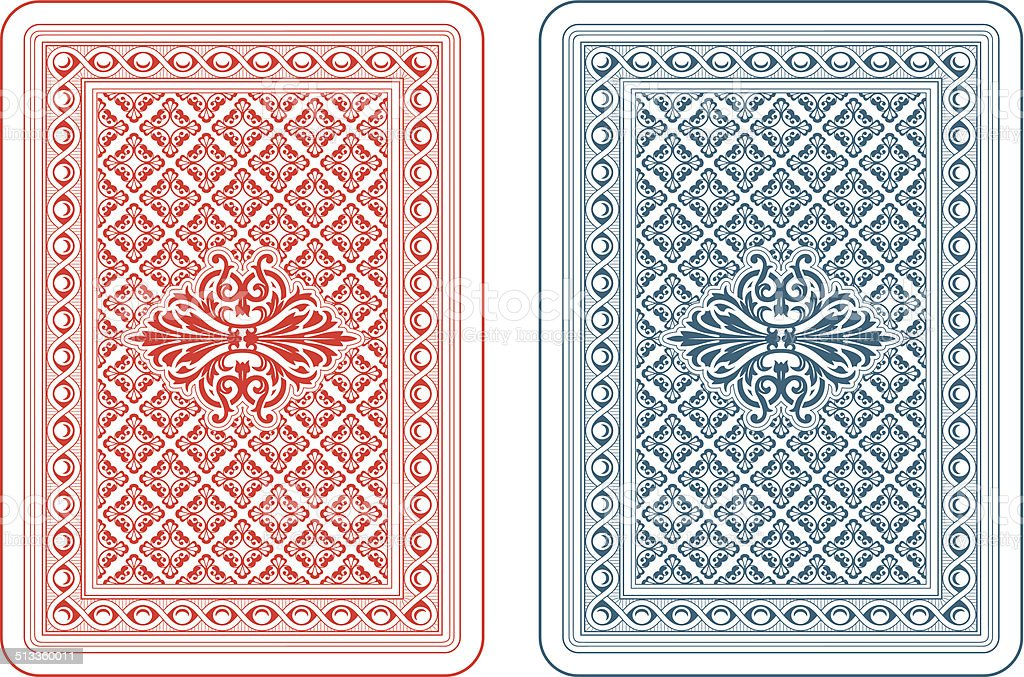 Playing cards back delta vector art illustration