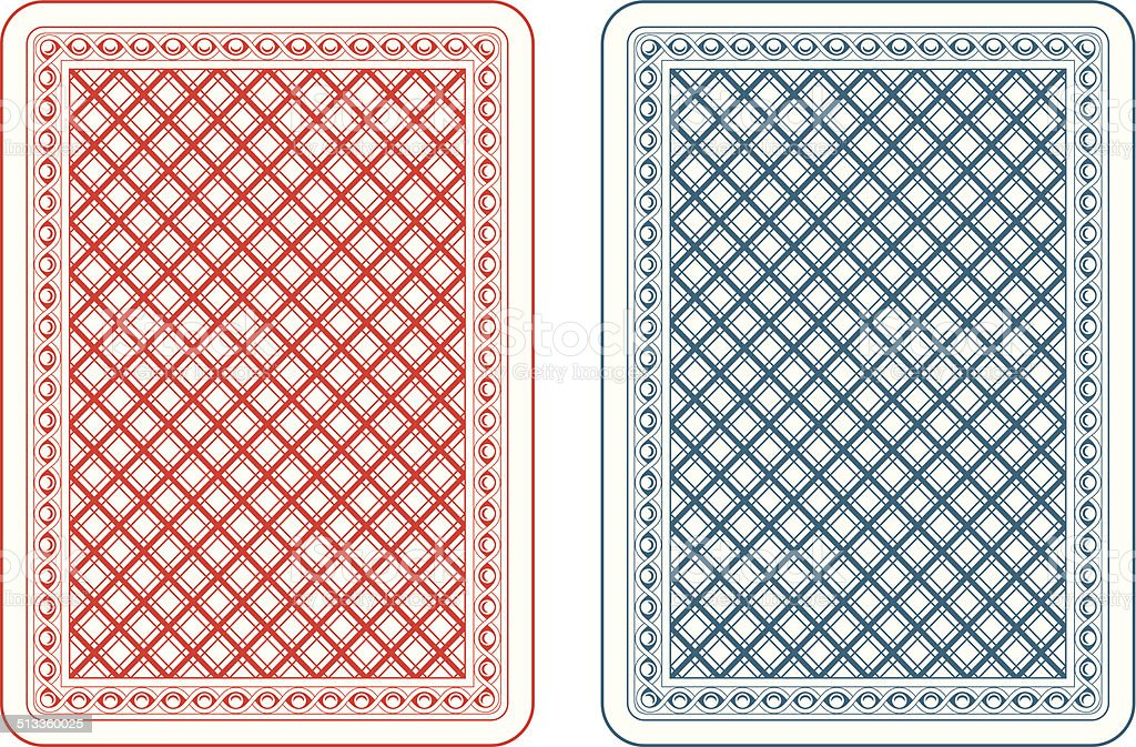 Playing cards back epsilon vector art illustration